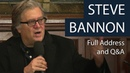 Steve Bannon Full Address and Q A Oxford Union
