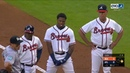 Jose Urena intentionally hits Ronald Acuna Jr on first pitch of the game