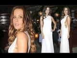 Kate Beckinsale Flashes an Ample Amount of Sideboob as She Goes Braless Under a Very Racy White Gown