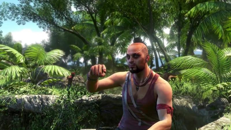 Far Cry 3 Ваас и его пламенные речи киберспорт спорт игра тропики стрельба шутер бандиты безумец безумие семья