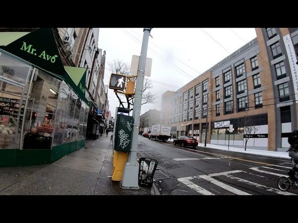 ⁴ᴷ⁶⁰ Walking NYC Light Snowfall Walk from Astoria to Long Island City Queens January 18 2019
