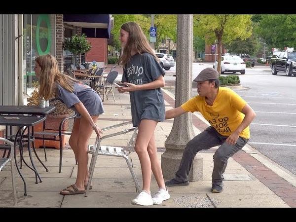 Chair Pulling Prank in Nashville