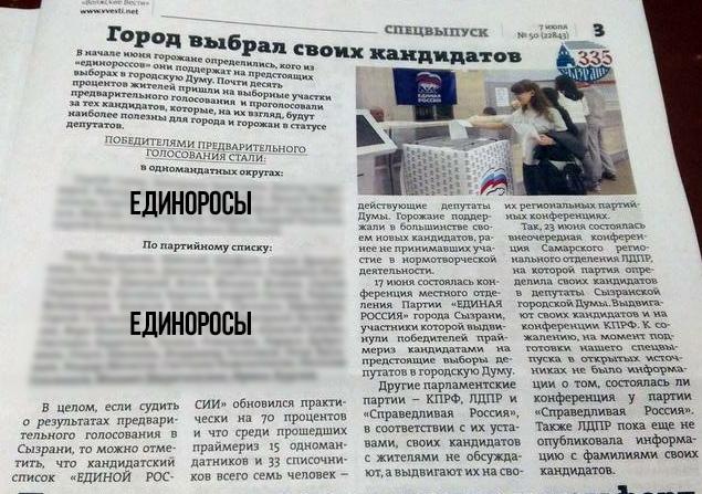 Сызрань выборы 2018 Единая Россия