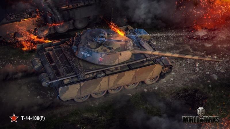 Flaming_Farts|Т44-100- чуть попотеем(1,5 часа соло) | World of Tanks.