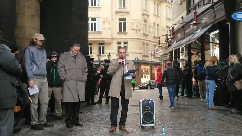 Beneš národ zradil a Masaryk včas zemřel., prohlásil předseda ND Adam B. Bartoš v den 100. výročí vzniku ČSR