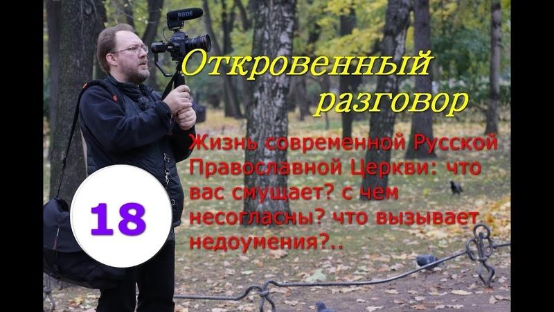 Жизнь современной Русской Православной Церкви. Что вас смущает и вызывает вопросы. Часть 18