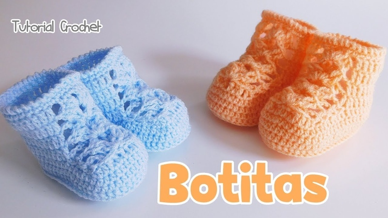 Como tejer zapatitos, botitas, escarpines a crochet , ganchillo
