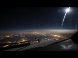 Потрясающе красивый вид из кабины самолета