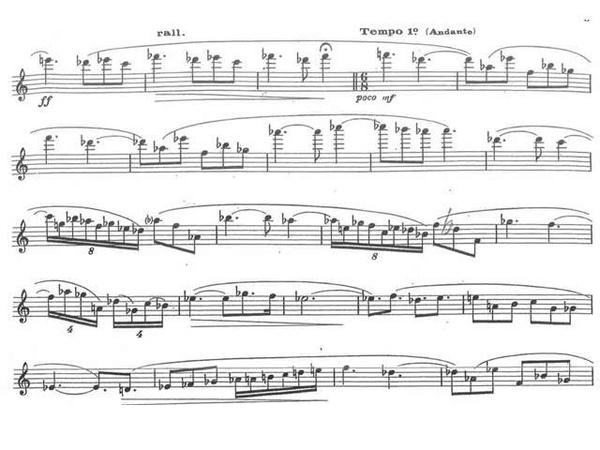 Jaques Ibert Pièce pour flûte seule. Pieza para flauta sola. Partitura y Audición