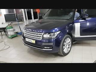 Откидной номер на Range Rover Vogue