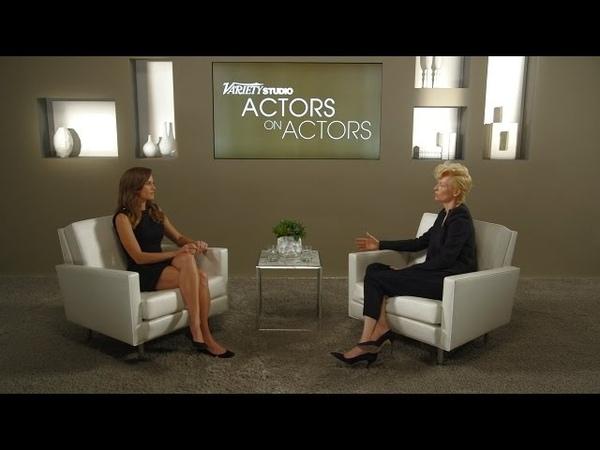 Hilary Swank Tilda Swinton at the Variety Studio Actors on Actors presented by Samsung Galaxy