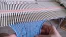 Tricoter des torsades avec la barre mousse garter bar sur la machine LK150