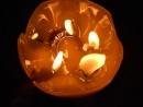 Свеча с украшениями