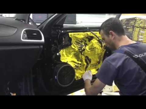Audi A6 многослойная шумо- и -виброизоляция, один слой качественнее другого, будет тихо в салоне