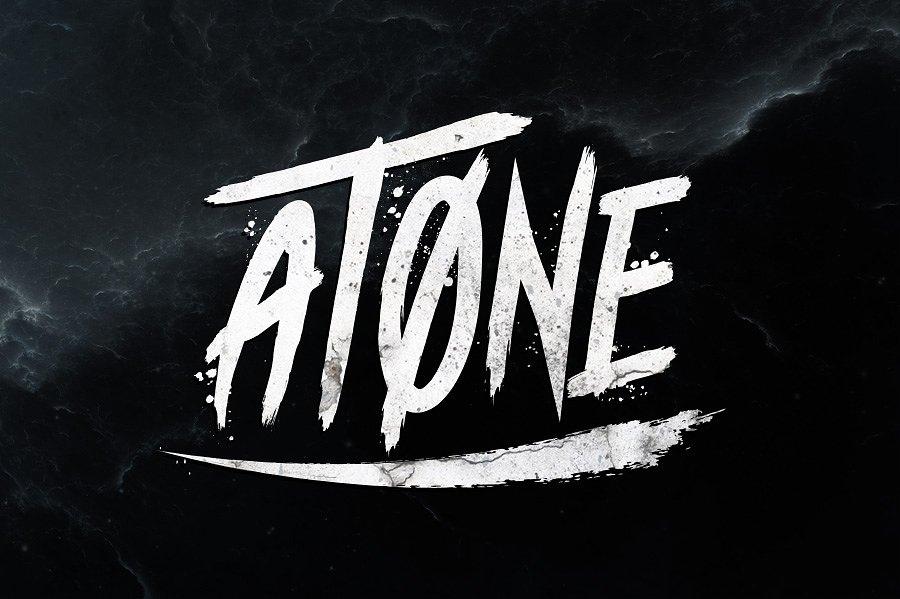 Шрифт - Atone