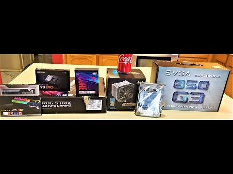 LIVE COMPUTER BUILD WITH GUEST! - i7-8086k, 970 EVO, TridentZ RGB RAM, Asus Z370 Gaming, EVGA G3 PSU
