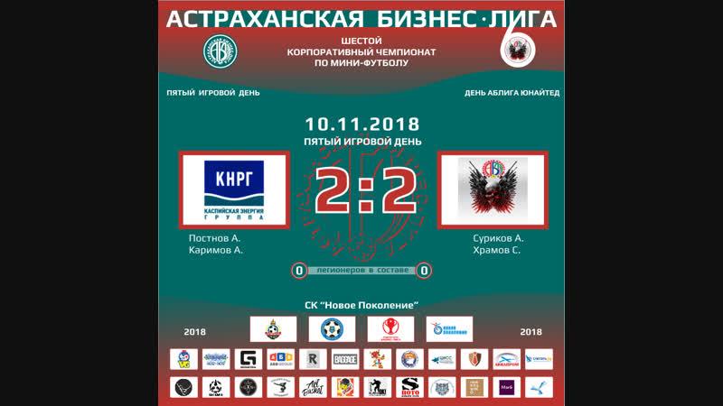 Каспийская Энергия - АБЛига Юнайтед (10-11-2018) 1 тайм