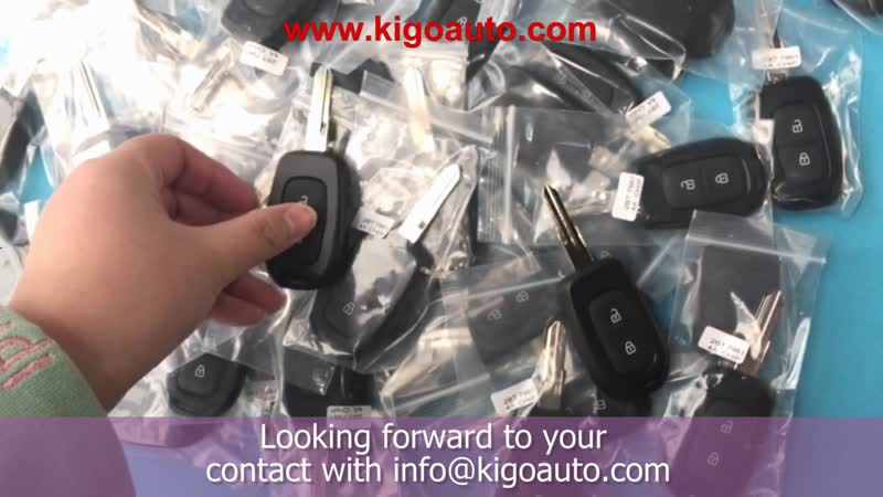 Remote key 2 button 433Mhz FSK VAC102 Hitag AES-4A Chip for Renault Duster Kwid Sandero Logan