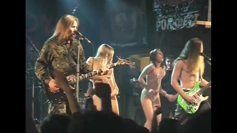 Metalla metal concert girl nude striptease on stage
