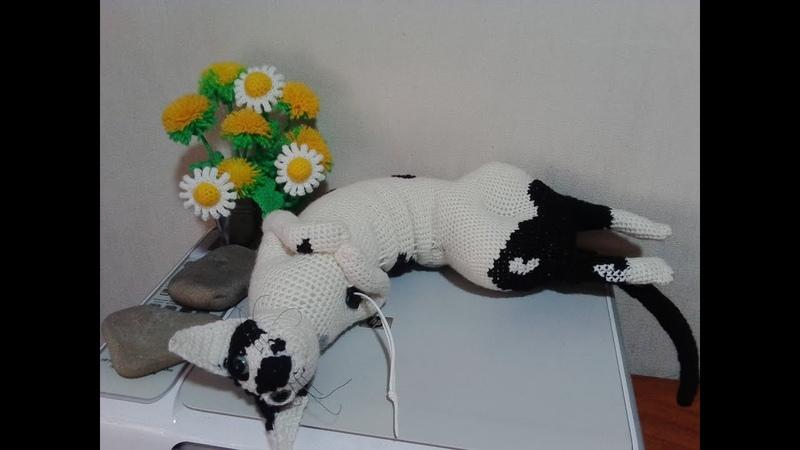 Кошка подушка, ч.2. Cat pillow, ч.2. Amigurumi. Crochet. Амигуруми. Игрушки крючком.
