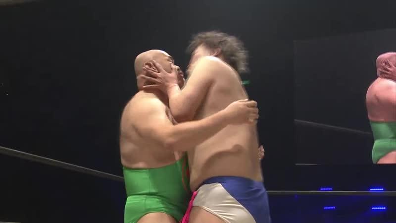 Muscle Sakai Kuro-chan vs. Danshoku Dino Ryota Yamazato (Loser Captain Anal Blast Net News Death Match)