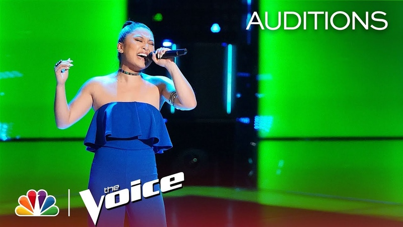 RADHA Floors Adam Levine with Jessie J's Mamma Knows Best The Voice 2018 Blind Auditions