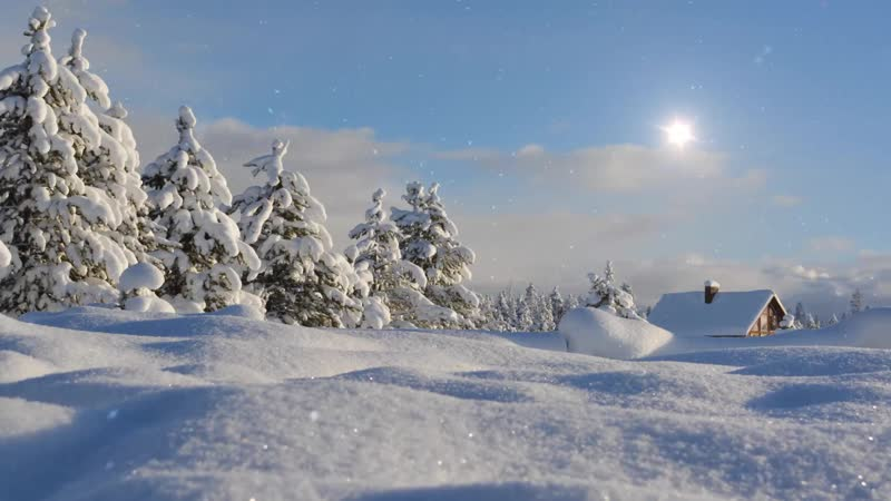 Снежный день, зимний дом / Snowy day, Winter House