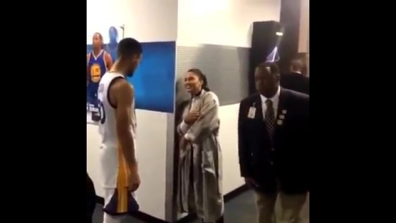 Stephen Curry and Ayesha Curry Postgame Love