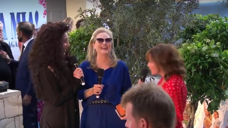 Meryl and Cher на премьере фильма Mamma Mia Here we go again