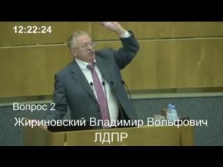 Пенсионная реформа. Госдума  Жириновский Владимир Вольфович, выступление от фракции ЛДПР