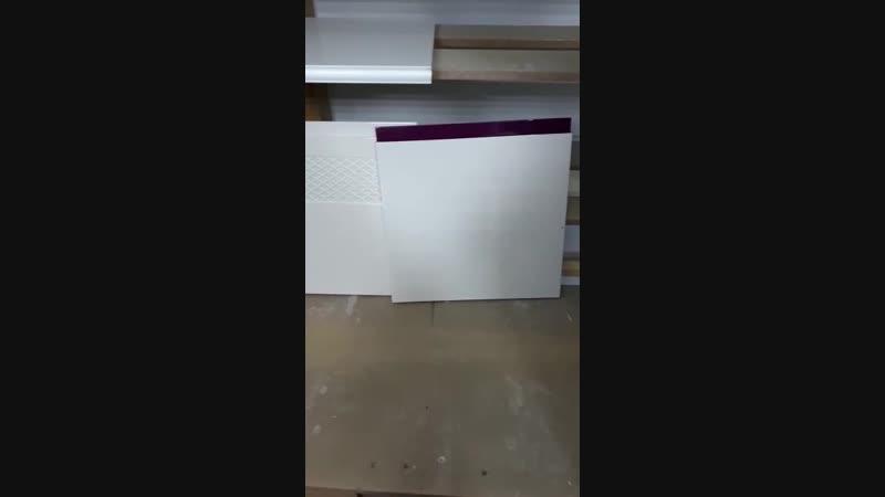 Видеобзор эмалевых фасадов в покрасочном цехе
