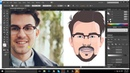 Adobe Illustrator CC 2017 tutorial How to design a Flat Avatar with details from your image