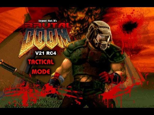 Brutal Doom v21 RC4 (PC) - Tactical Mode Gameplay