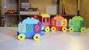 Считаем до 10 с конструктором Лего Дупло Поезд для детей.