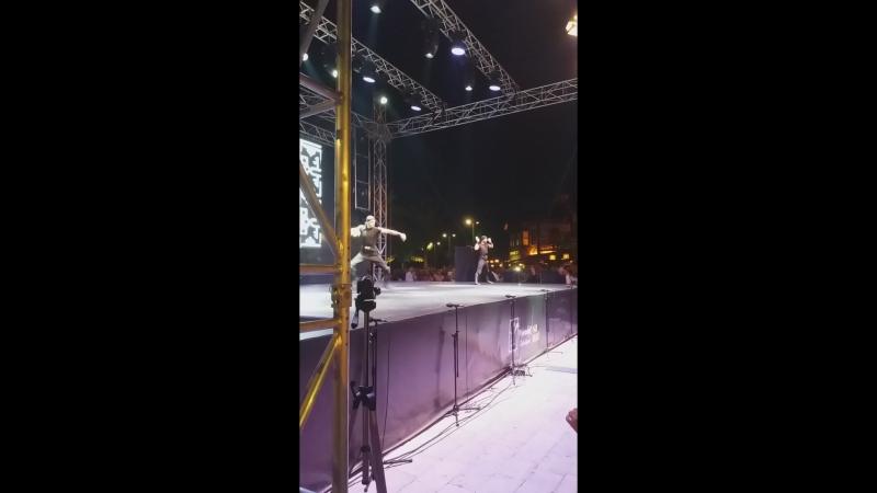 Концерт танцевальной группы Огни Анатолия на музыкальном фестивале в Сиде. 23 сентября 2018 года