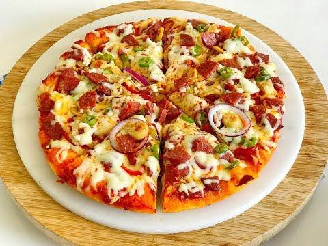 Tavada 10 Dakikada Pizza Nasıl Yapılır Muhteşem hamuruyla en pratik pizza