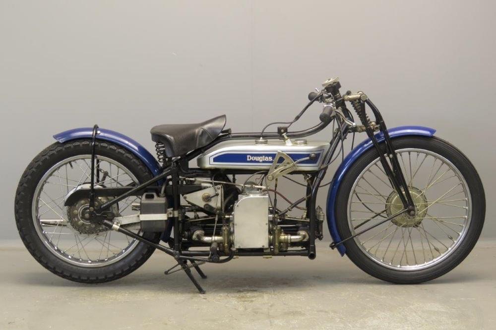 Старинный мотоцикл Douglas SW5 1928