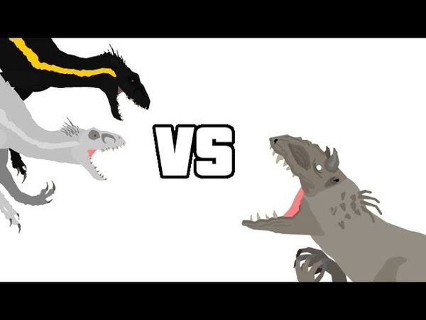 DBP Episode 21 Indominus Rex Vs 2x Indoraptors (Mini Collab With Allosaurus16 And Gummer)