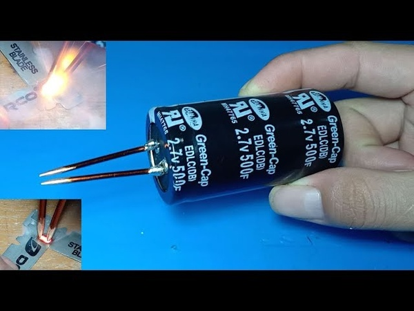 Spot welder using 500Farad super capacitor Ultra capacitor as spot welder