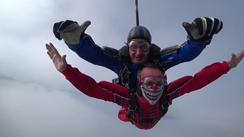 Прыжок с парашютом в тандеме, 4100 м, День парашютиста 26.07.2017, аэродром Пущино