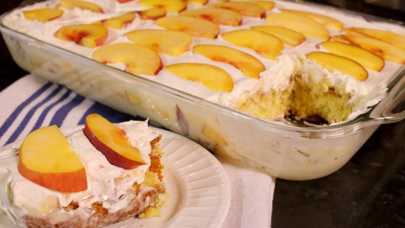 How to make a Peach Custard Cake (Assyrian Food)