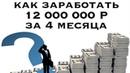 12 000 000₽ за 4 месяца в копании Billions Capital