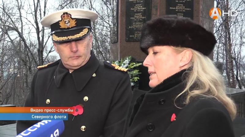 Британские послы посетили военное мемориальное кладбище Североморска