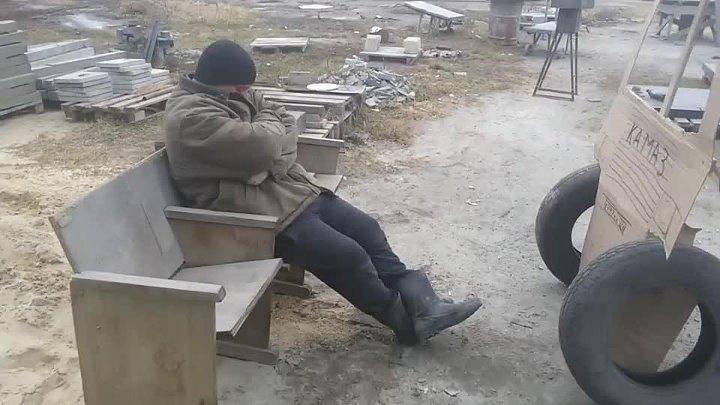 Уснул на рабочем месте его разбудил камаз