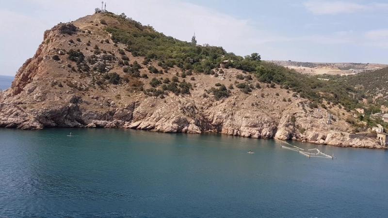 Чёрное море, вход в Балаклавскую бухту🌊⛰