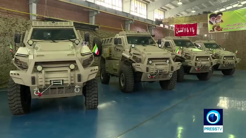 Iran unveils new armored military vehicle, named Toofan (hurricane)