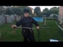 обучающее видео рубки мишени на стойке