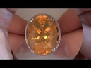 UNHEATED UNTREATED 26 45 Carat Mexican Fire Opal Diamond Cocktail Ring