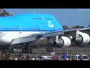 KLM 747 Extreme Jet Blast blowing People away at Maho Beach St Maarten 2014 mp4