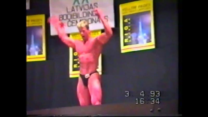 Māris Šveiduks @ 1993 IFBB Latvia